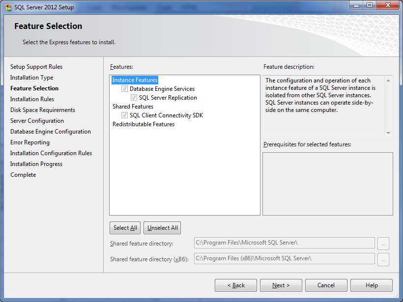 Installation SQL Server 2012 Express With Reporting