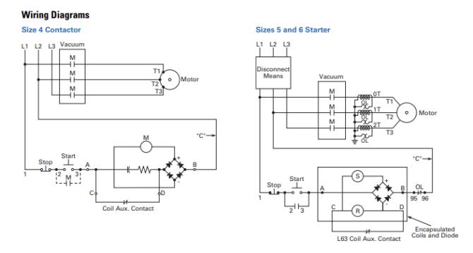 vacuum contactor wiring diagrams  electrical engineering