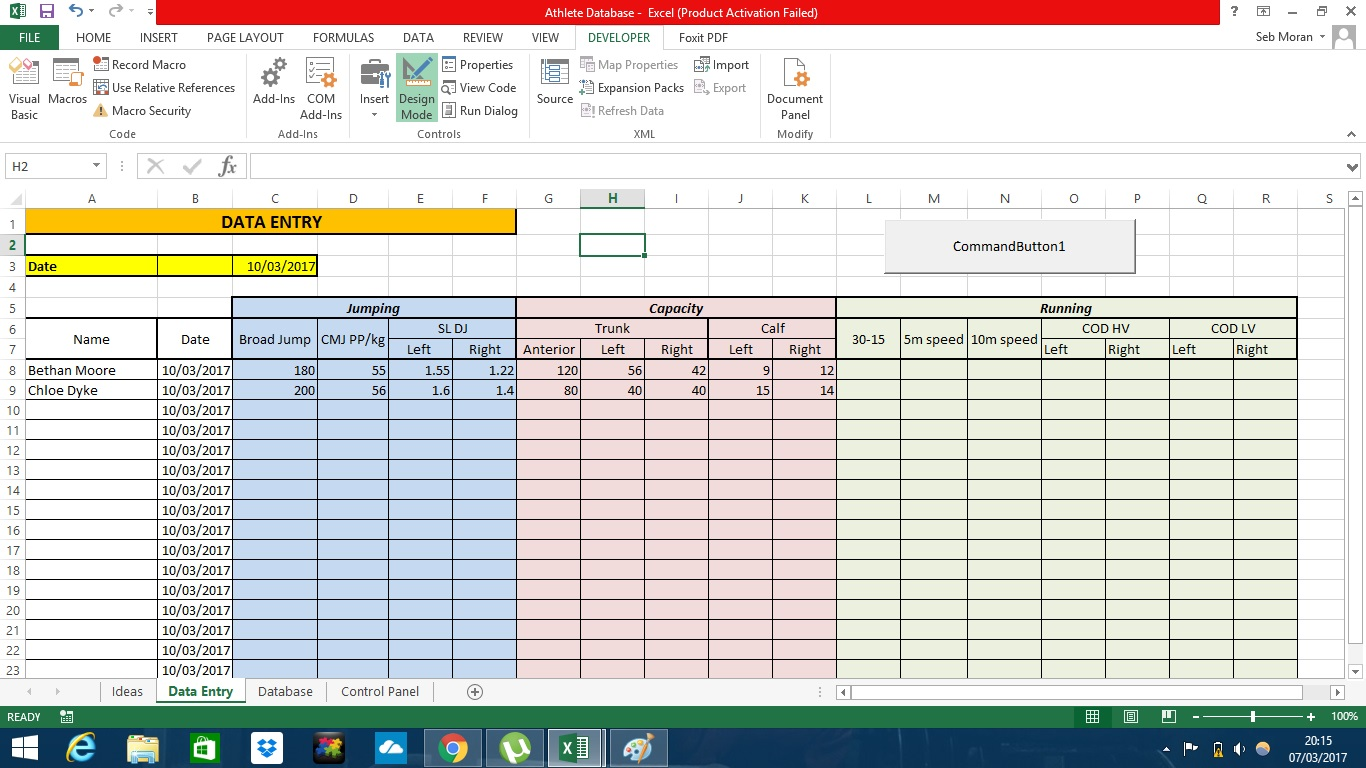 5 Column Worksheet Excel