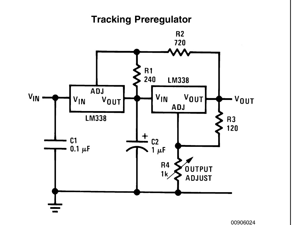 voltage regulator using lm338