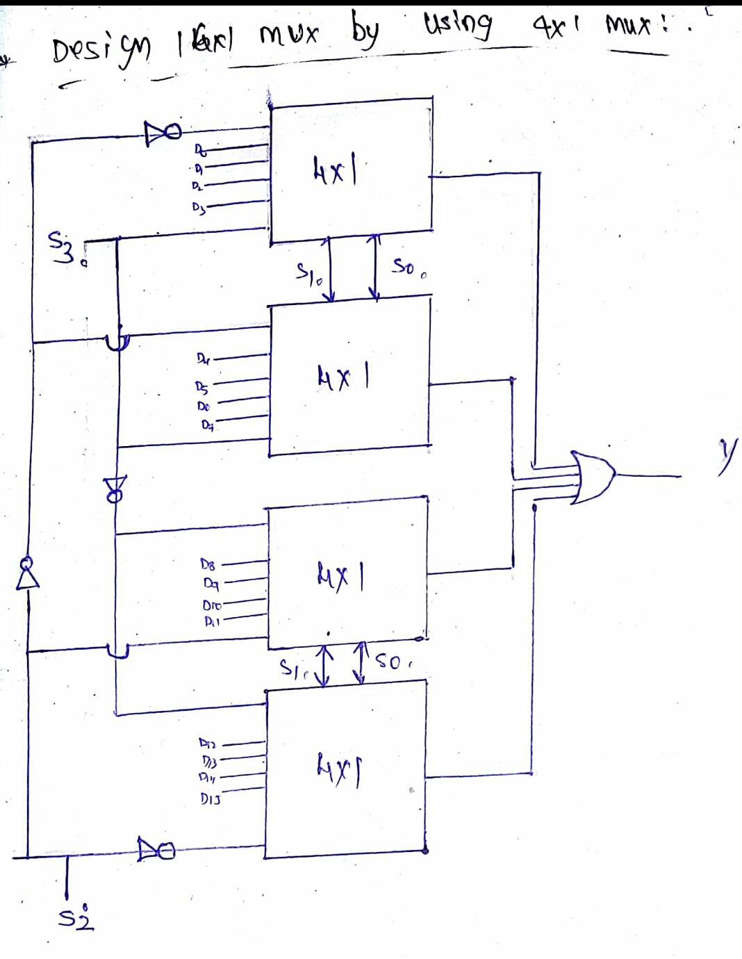 logic diagram of 8 to 1 line multiplexer half switched outlet wiring digital block 16 mux using four 4