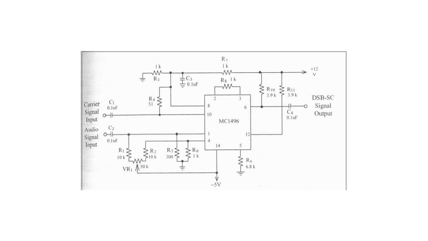hight resolution of dsb sc modulation circuit