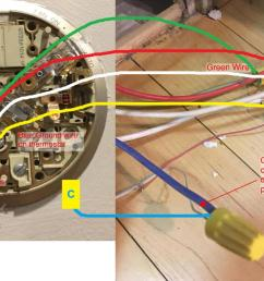 how do i hook up a new 5 wire cable to an existing 4 wire furnace 4 wire thermostat wiring blue red green white [ 1242 x 744 Pixel ]
