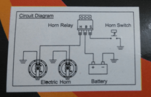 electrical  Wiring a 3 pin relay to power a dual horn