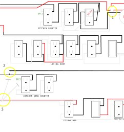 kitchen wiring issue home improvement stack exchange kitchen wiring circuits uk see pic circuit [ 3300 x 2550 Pixel ]