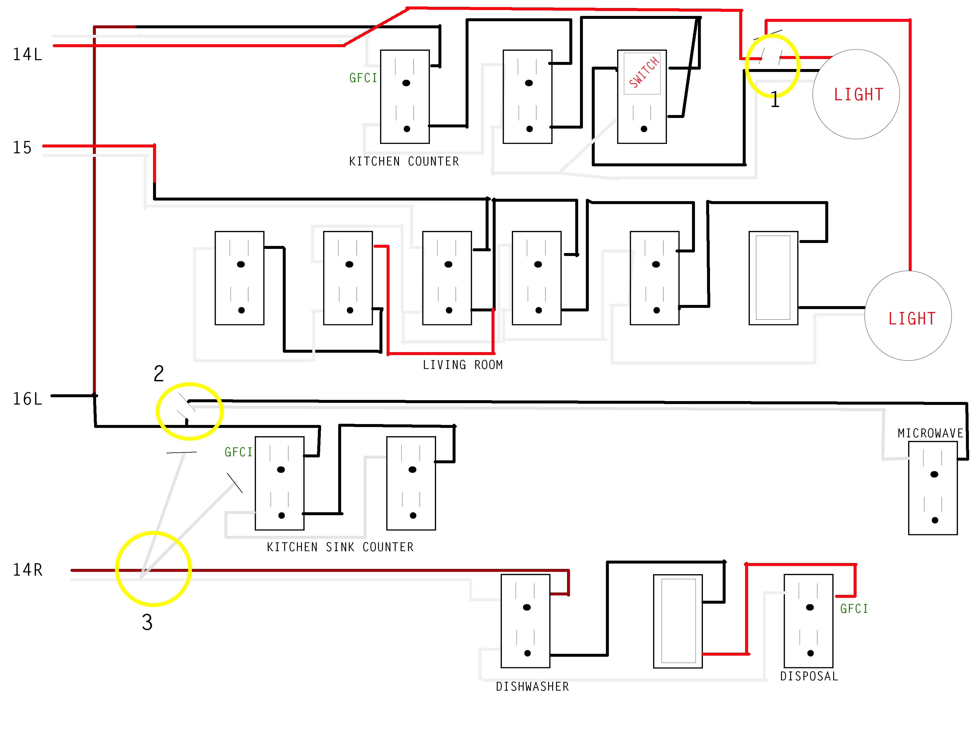diy electrical wiring diagrams chicken wing diagram kitchen issue home improvement stack exchange