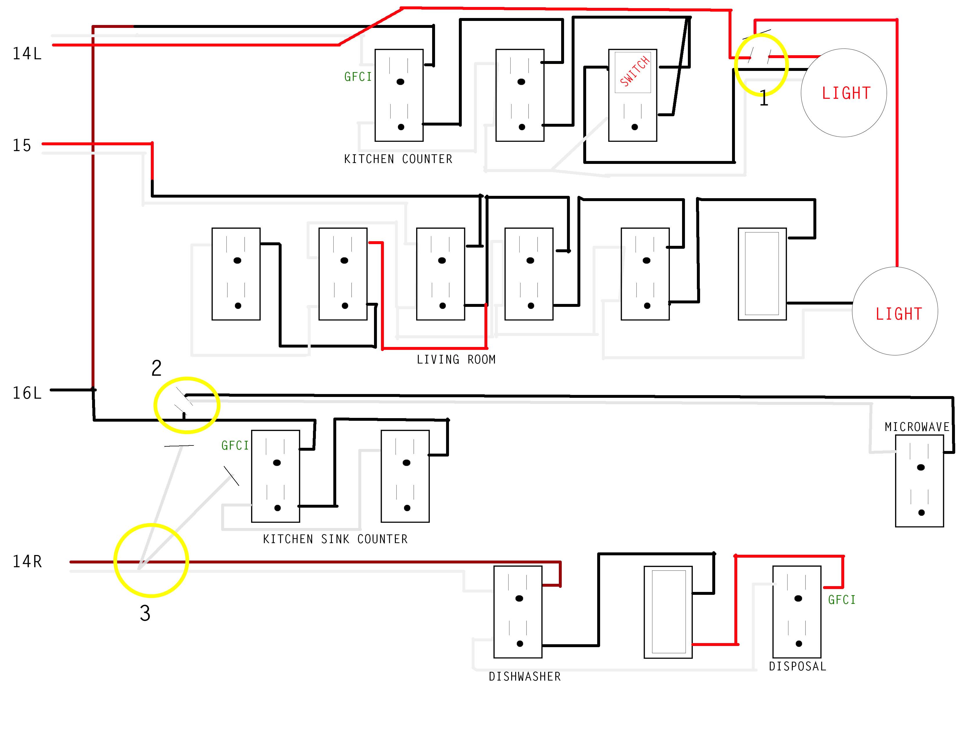 diagram receptacle split circuit cat 5 wiring kitchen issue home improvement stack exchange