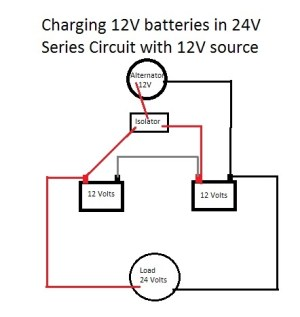 Charging 24V Battery with 12V Alternator and Isolator  Motor Vehicle Maintenance & Repair Stack