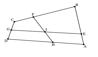 Quadrilateral geometry problem, couldn't solve it