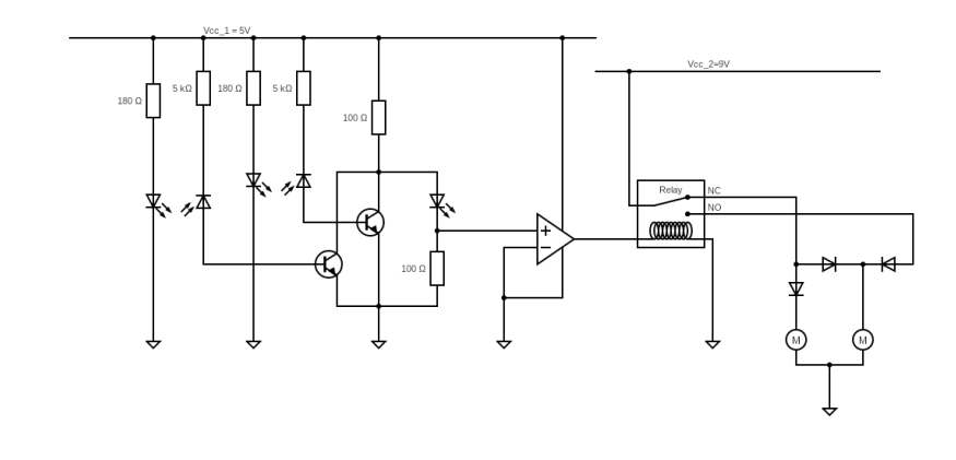 Nor gate using photodiodes and transistors doesn't work