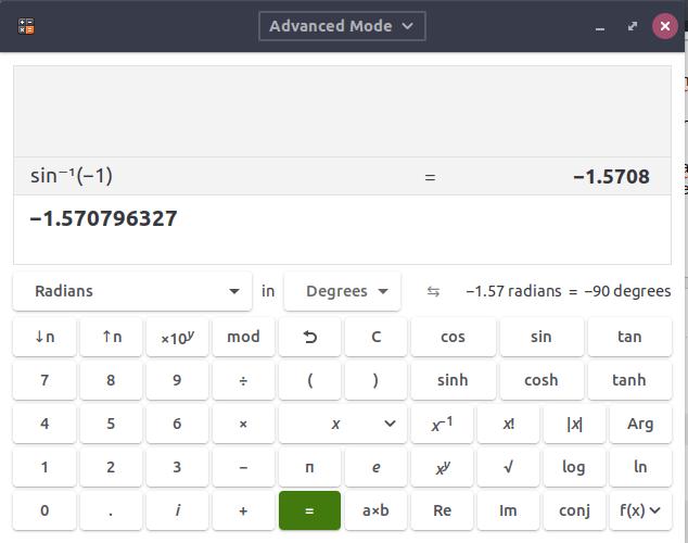 18.04 - How to put the default calculator into radian mode? - Ask Ubuntu