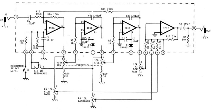 treble boost up using lm741