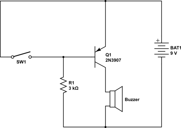 Basic Pnp Transistor Switching Circuit