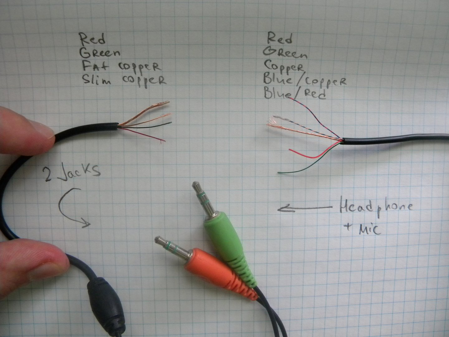 hight resolution of connect broken headphone mic wires electrical engineering stackheadset wiring connection 1
