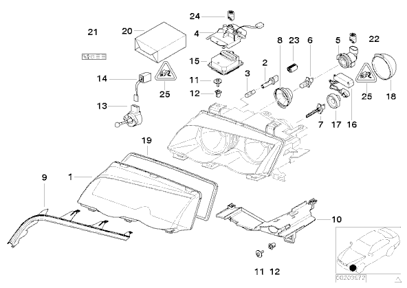 bmw e46 headlights wiring diagram