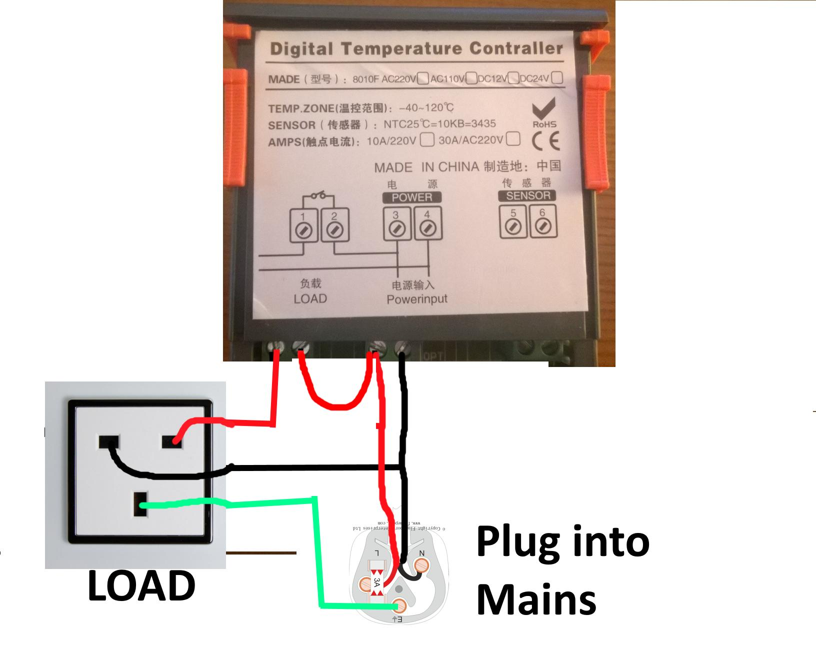 digital temperature controller wiring diagram scion xb stereo advice on power supply to