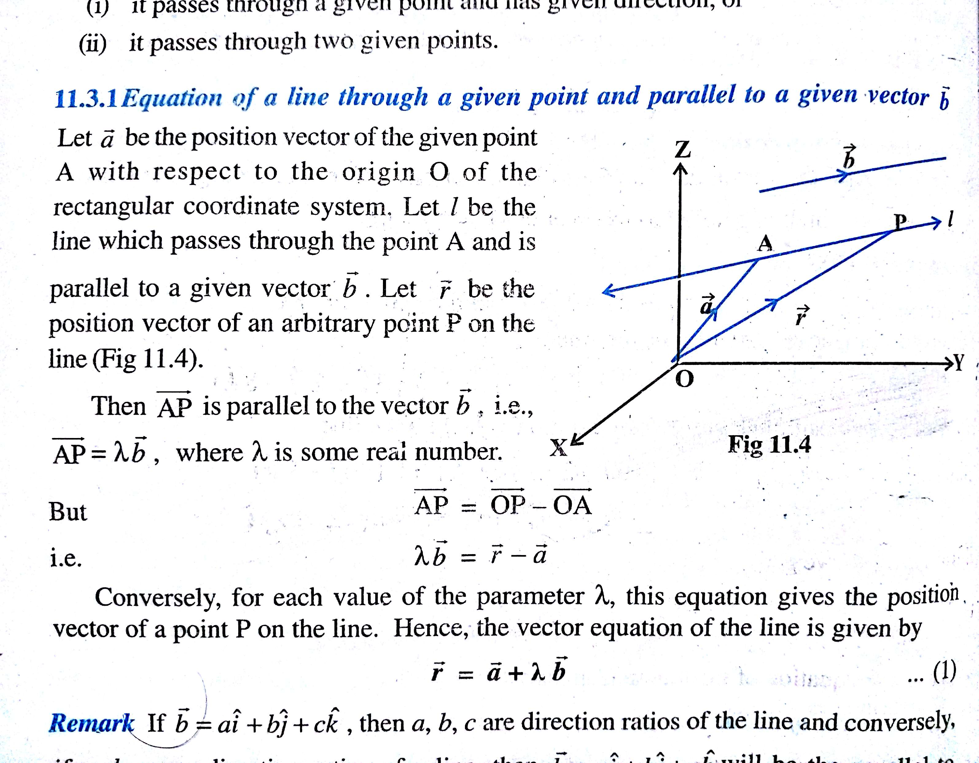 What Is Vector Equation Of Line