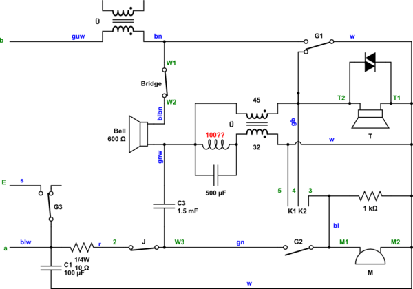 Isdn Wiring Diagram Telephone Control The Hardware Of An Old Phone Using A