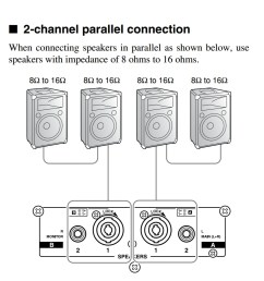 amplifiers how should i wire multiple speakers for a live rh music stackexchange com wiring multiple speakers diagrams wiring multiple speakers in series [ 1054 x 1139 Pixel ]
