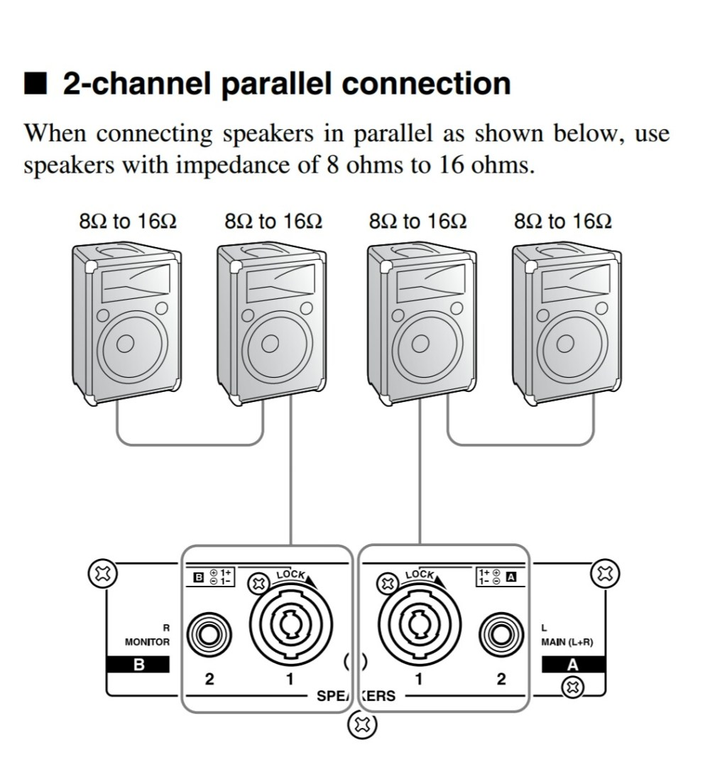 medium resolution of amplifiers how should i wire multiple speakers for a live rh music stackexchange com wiring multiple speakers diagrams wiring multiple speakers in series