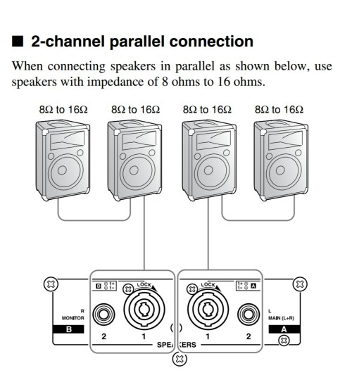 small resolution of amplifiers how should i wire multiple speakers for a live rh music stackexchange com wiring 4 8 ohm speakers wiring 6 8 ohm speakers