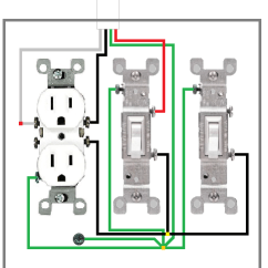 3 Way Outlet Directv Wireless Genie Wiring Diagram Three Switch Receptacle Schematic What Is The Proper To Wire A Light Fan Outlets