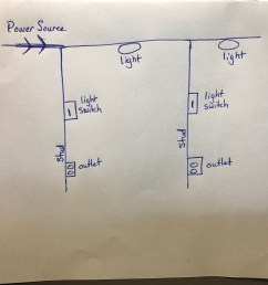 electrical what is the proper and safe wiring to two lights with 2 wire 2 light switches 1 power source diagram [ 1512 x 1512 Pixel ]