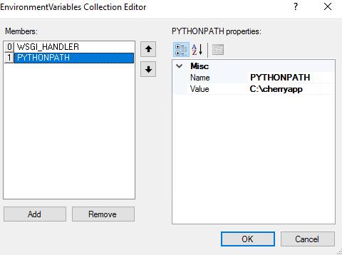 IIS to host python CherryPy API - Stack Overflow