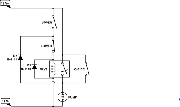 dual float switch wiring diagram servo drive how to protect reed switches in pump control schematic
