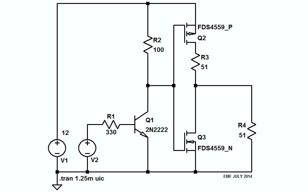 50 ohm driver circuit