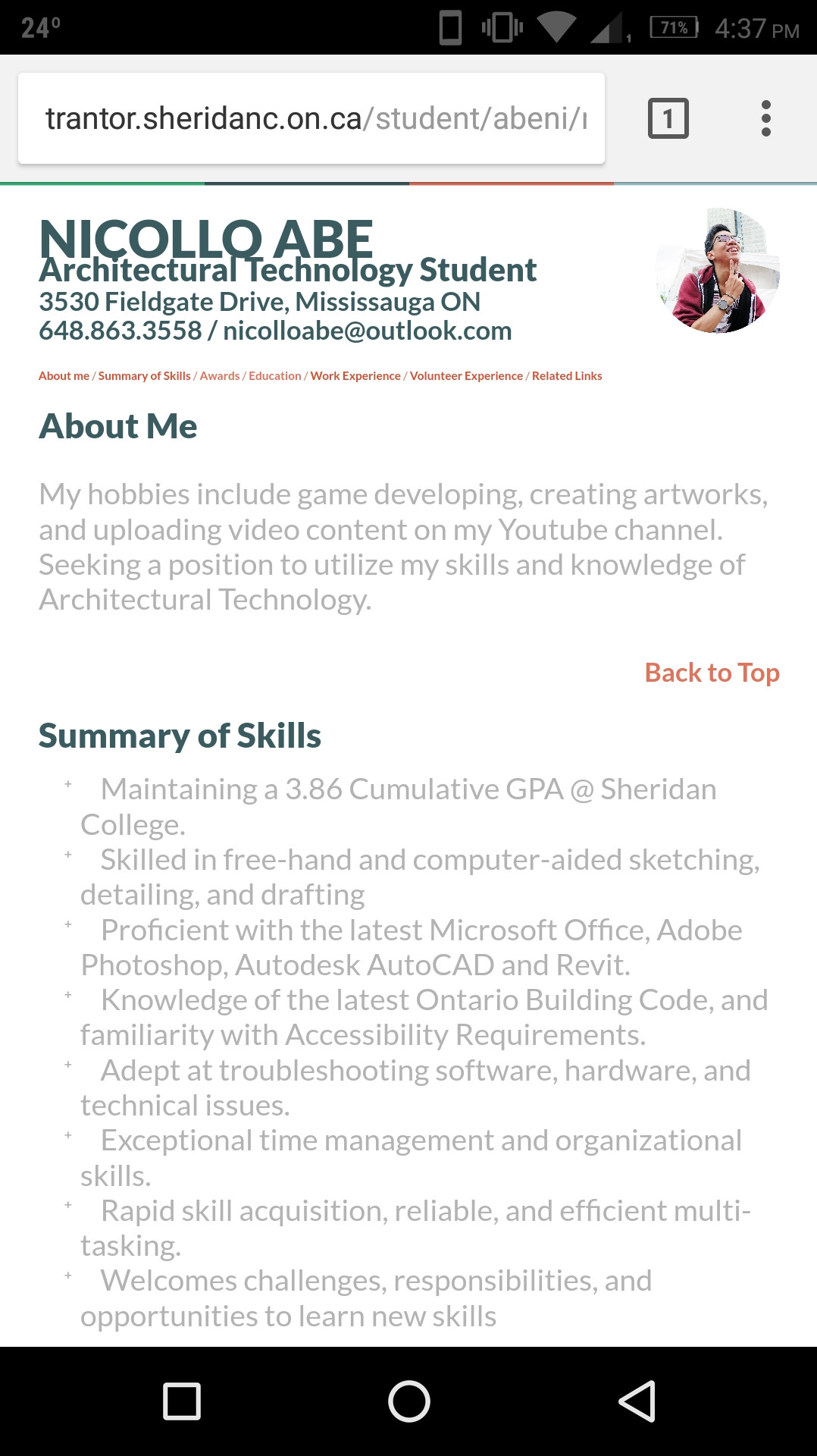 Html Code For Resume Using Css Website Showing Differently On Mobile