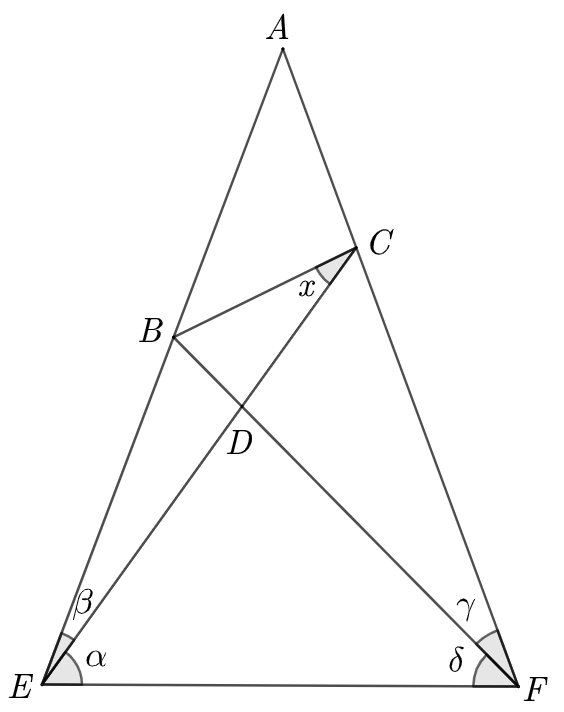 Geometry problem regarding an isosceles triangle