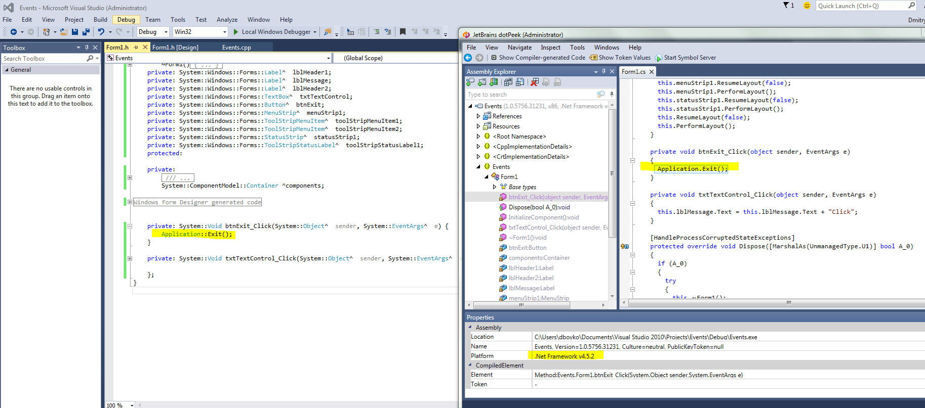 Winforms Visual Studio Express 2012 No Windows Forms