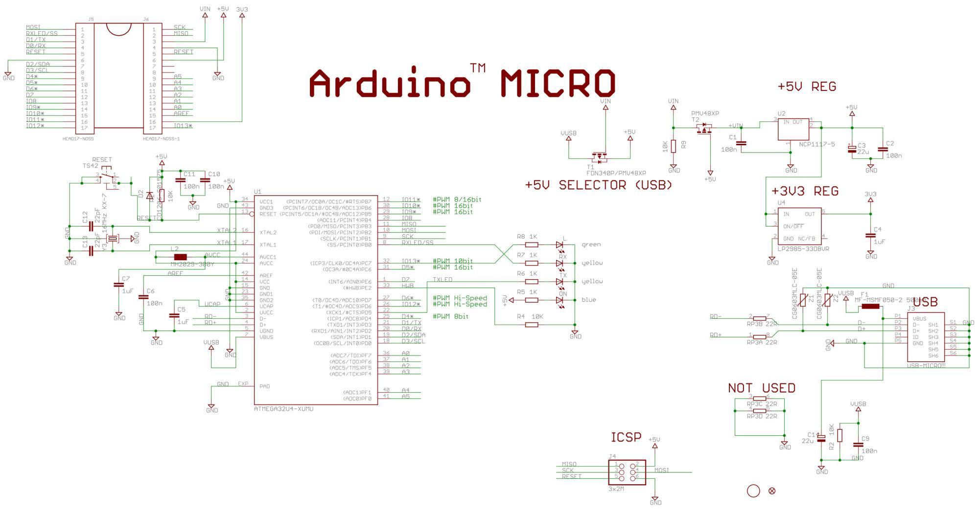 hight resolution of arduino micro schematic
