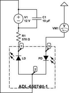 How can I read the current from a monitor photodiode of a