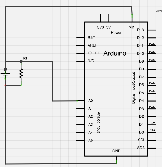 Measuring an Arduino's power source voltage using Analog