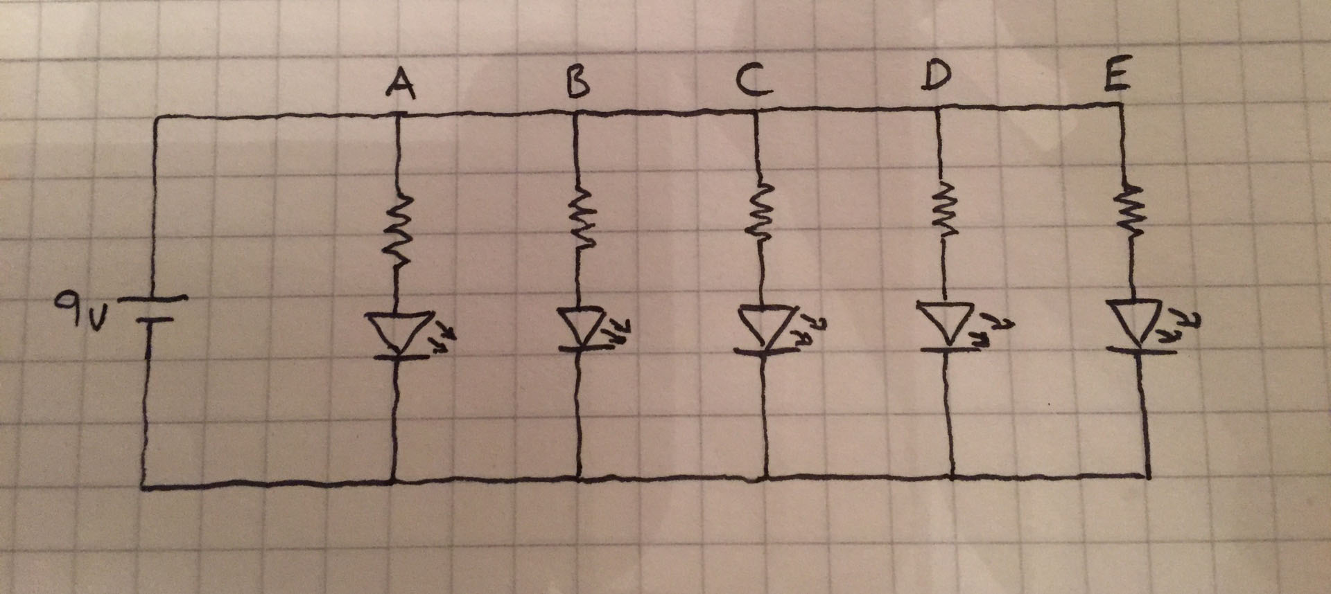Voltage Drop In A Parallel Connected Circuit In Which The Loads Are