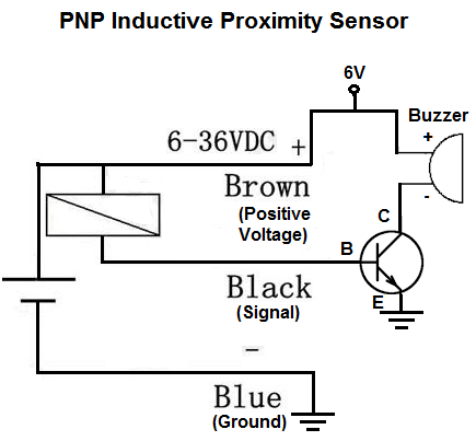 How to connect a PNP inductive proximity sensor to a PC