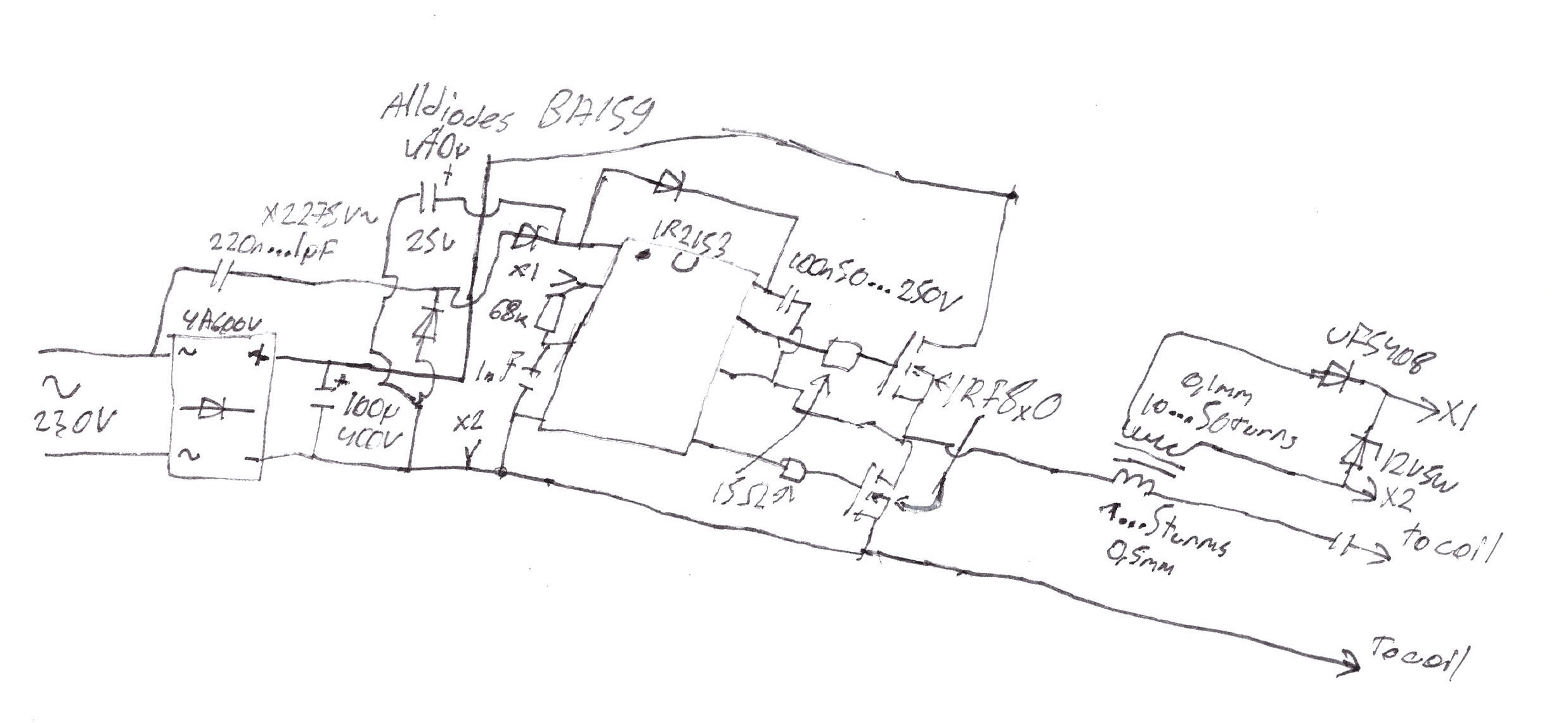 schematic and operation sorry for the hand drawn schematic
