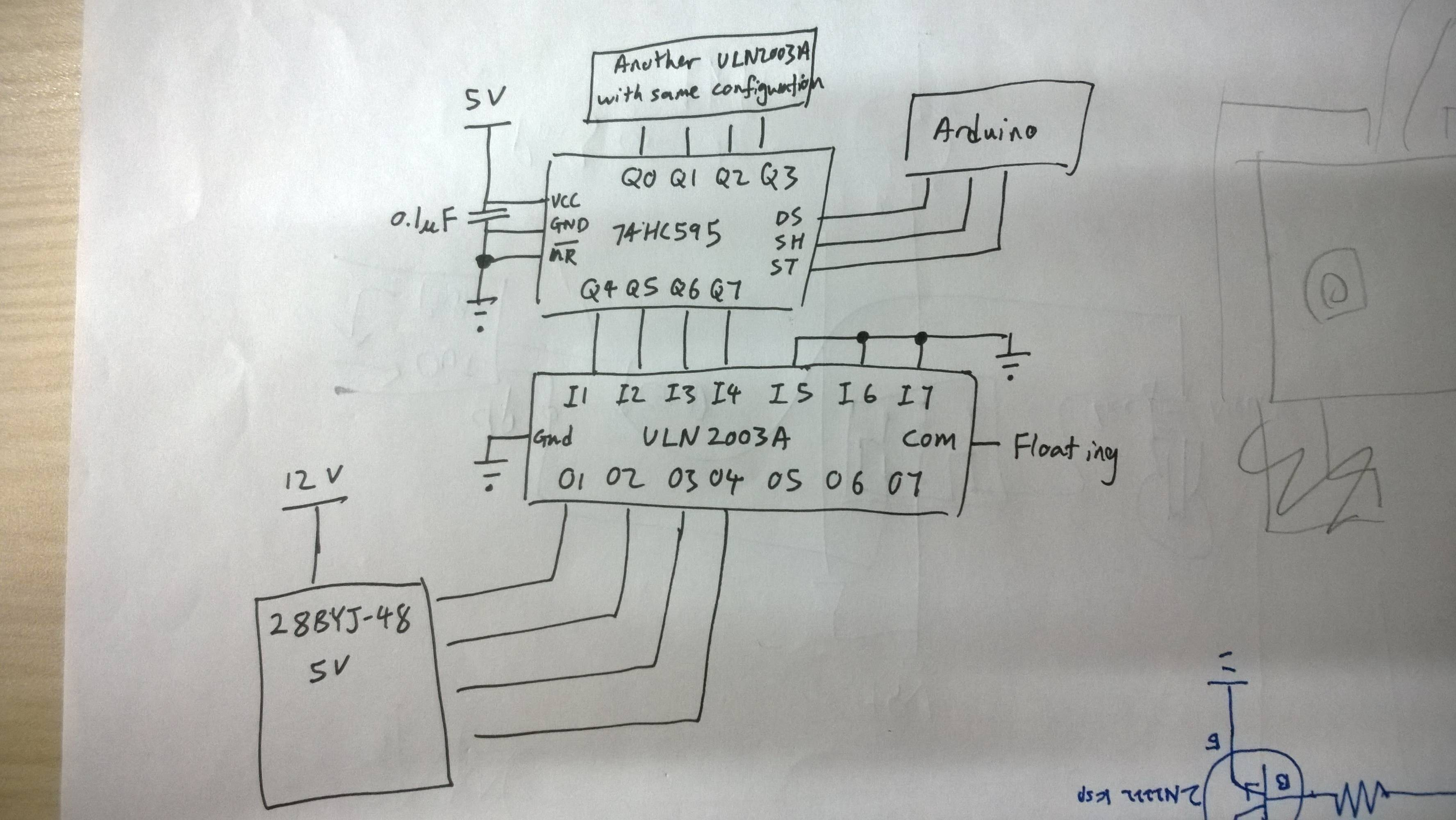 relay wire diagram sears lawn mower parts arduino - 74hc595 + uln2003a not driving stepper motor electrical engineering stack exchange