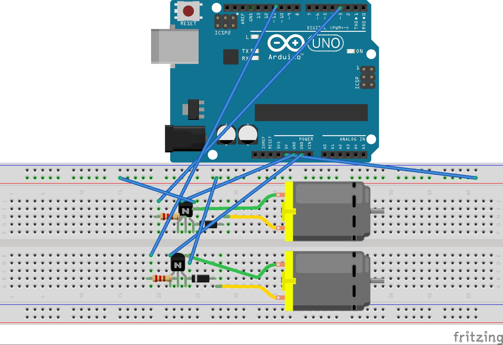 hight resolution of  enter image description here arduino uno transistor h bridge