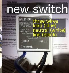 here is a picture of the old switch the new switch and what s inside electrical wiring lighting switch [ 3239 x 1200 Pixel ]