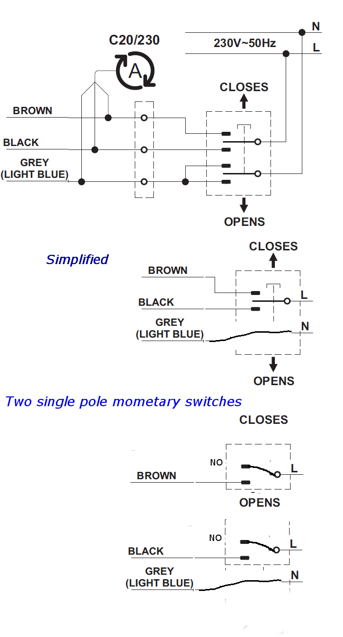 Wiring Diagram Double Switch Wiring : wiring, diagram, double, switch, Double-pole, Double-throw, Switch, Simplified, Controlling, Motor, (skylight), Electrical, Engineering, Stack, Exchange