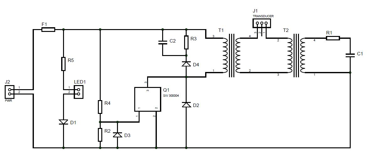 CIRCUIT FOR ULTRASONIC CLEANER