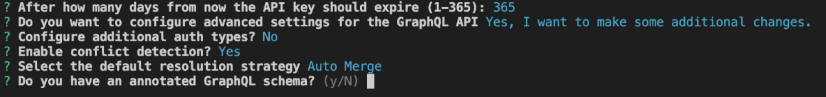 Image showing steps in setting up GraphQL API