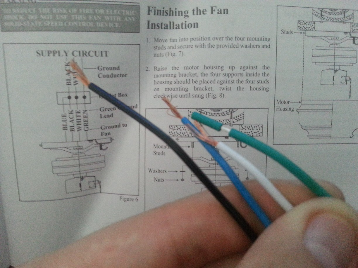 hight resolution of electrical how do i wire this ceiling fan home improvement hampton bay ceiling fan diagram
