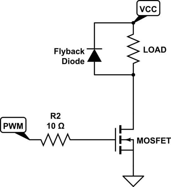 N-Mosfet switch circuit strange behavior laboratory power