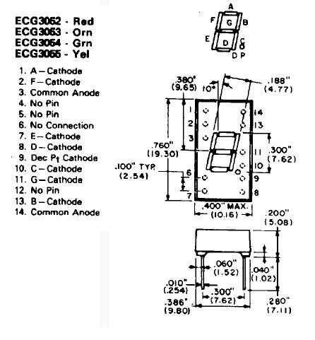 common anode 7 segment display trouble