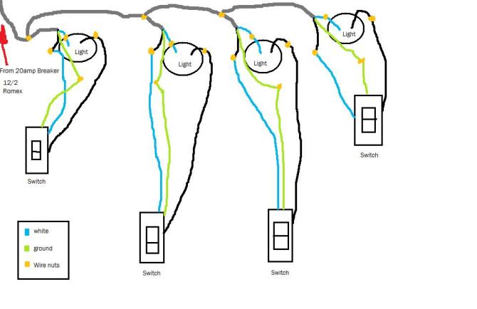 would my lighting diagram work  home improvement stack