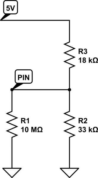 How to calculate current into GPIO pin after voltage